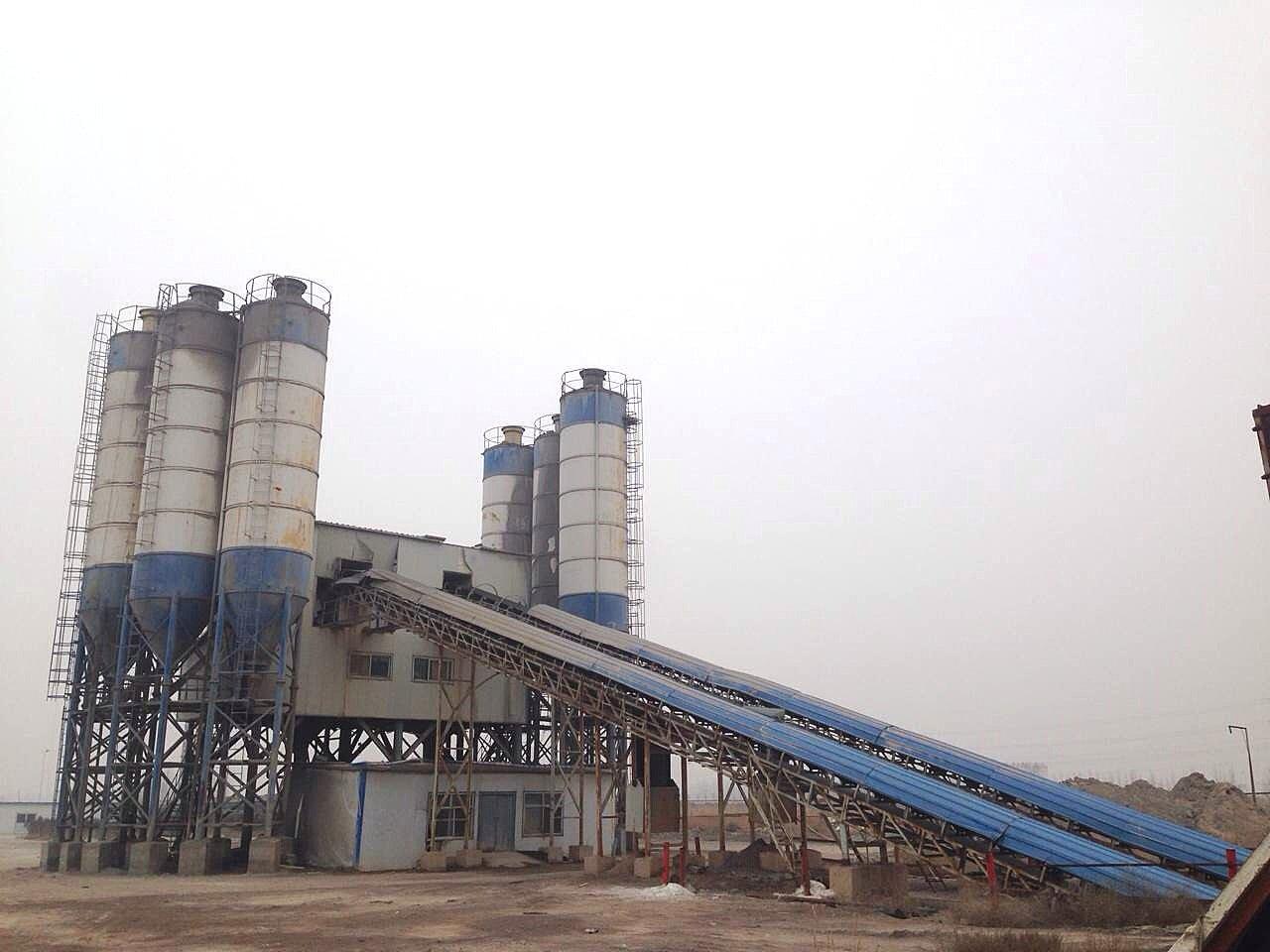 宁夏银川市二手中建机械双120混凝土搅拌站