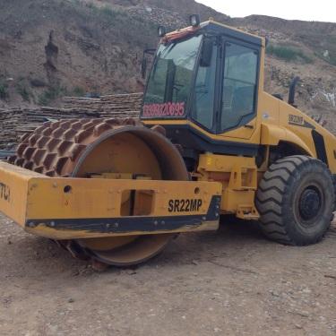 甘肃定西市出租山推机械式22吨MP22单钢轮压路机