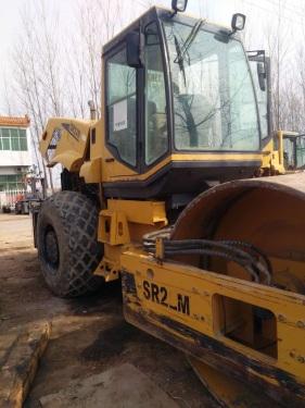 河南漯河市出租山推液压式22吨SR22M单钢轮压路机