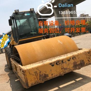 辽宁大连市出租山推液压式22吨SR22M单钢轮压路机