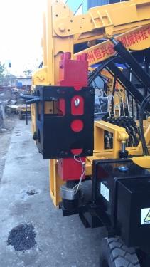 云南昆明市出租护栏打桩机Hx36D打桩机冲孔钻机