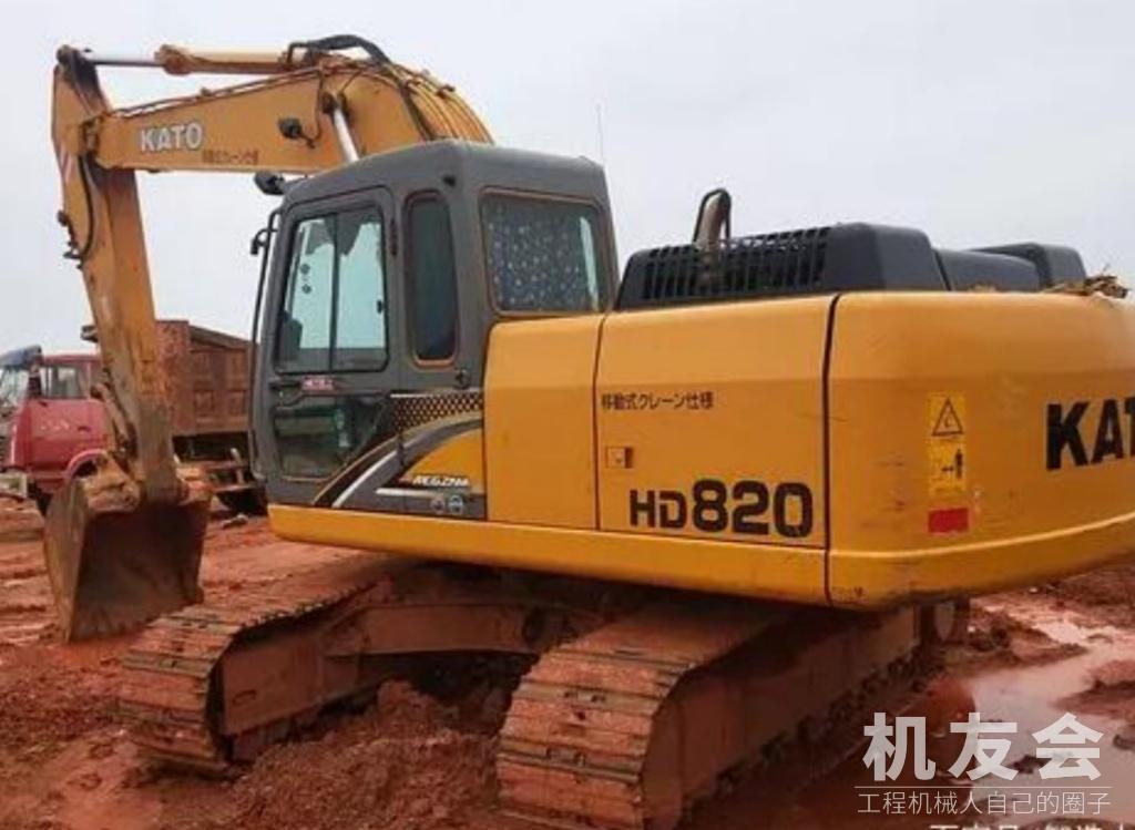 加藤HD820挖掘機,旋轉作業時機子有沖擊,是什么情況